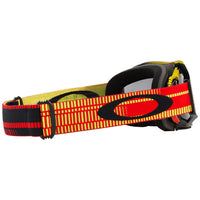 OAKLEY AIRBRAKE MX GOGGLE (FREQUENCY RED/YELLOW) DARK GREY LENS