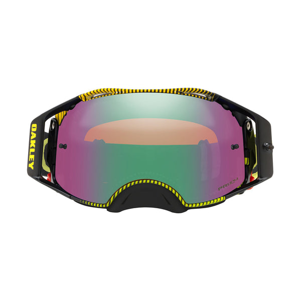OAKLEY AIRBRAKE MX GOGGLE (FREQUENCY GREEN/YELLOW) PRIZM JADE IRDIUM LENS