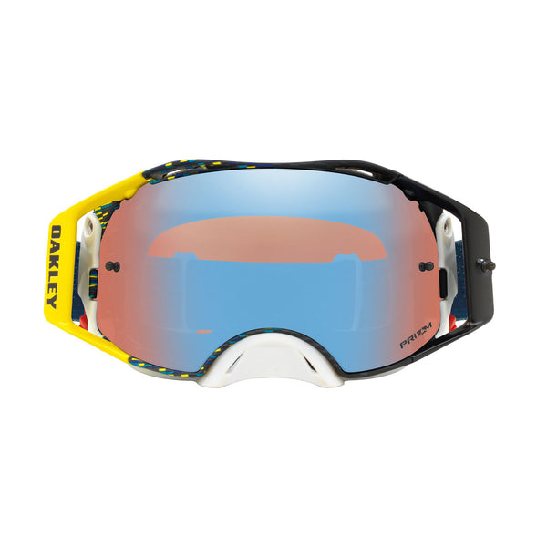 OAKLEY AIRBRAKE MX GOGGLE (EQUALIZER BLUE/YELLOW) PRIZM SAPPHIRE IRDIUM LENS