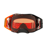 OAKLEY AIRBRAKE MX GOGGLE (EQUALIZER RED/ORANGE) PRIZM BRONZE LENS