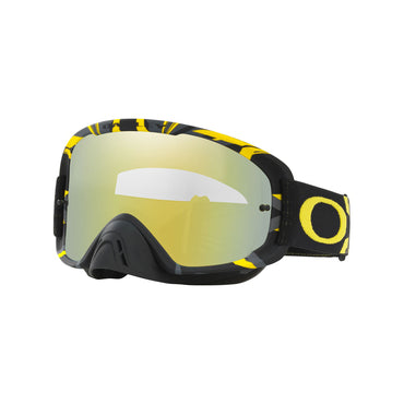 OAKLEY O FRAME 2.0 MX GOGGLE ADULT (INTIMDATOR GUN METAL/YELLOW) 24K IRIDIUM MIRROR LENS