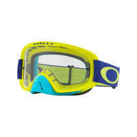 OAKLEY O FRAME 2.0 MX GOGGLE (FLO LIME/BLUE) CLEAR & DARK GREY LENS