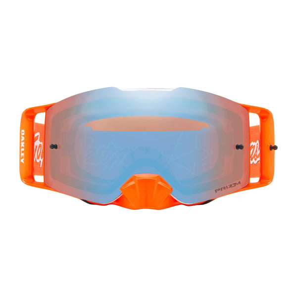 OAKLEY FRONT LINE TLD COLLECTION MX GOGGLE (MERTIC RED/ORANGE) PRIZM SAPPHIRE IRIDUM LENS