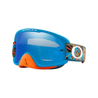OAKLEY O FRAME 2.0 MX GOGGLE (CAMO VINE JUNGLE ORANGE/BLUE) BLACK ICE IRDIUM & CLEAR LENS