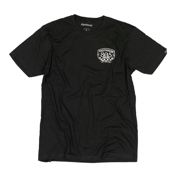 FASTHOUSE 805 PITSTOP ADULT TEE BLACK