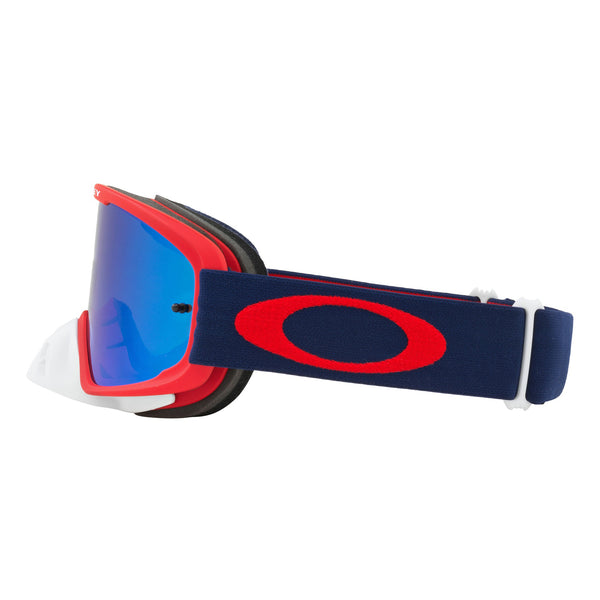 OAKLEY O FRAME 2.0 MX GOGGLE (RED/NAVY) BLACK ICE IRDIUM & CLEAR LENS
