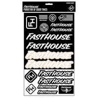 FASTHOUSE STICKER SHEET BLACK/WHITE
