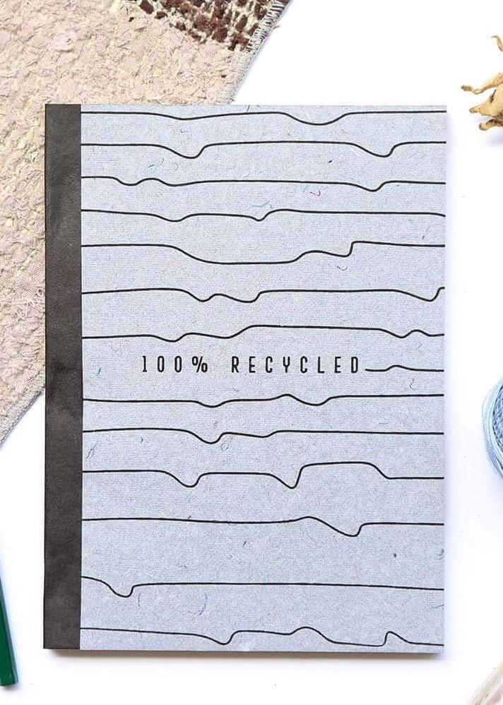100% Recycled Note book - Ethical made fashion - onlyethikal