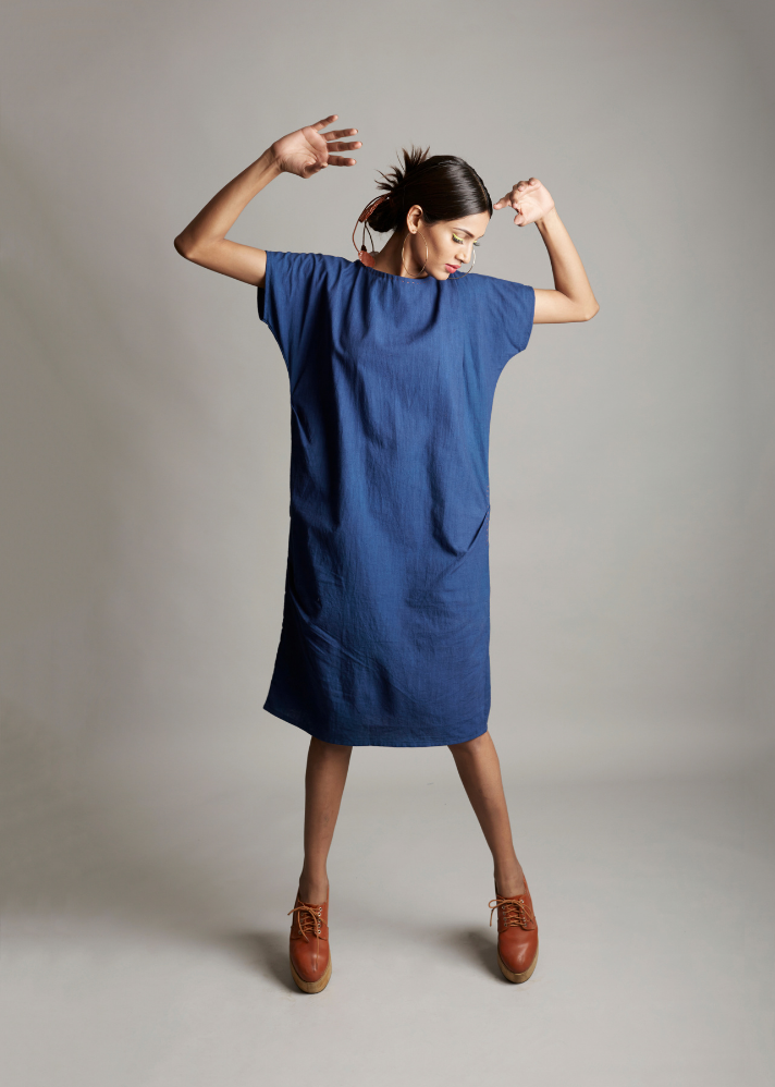 Capricious Calm Side Shift Dress - onlyethikal