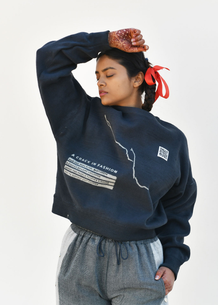A crack in fashion sweatshirt - onlyethikal