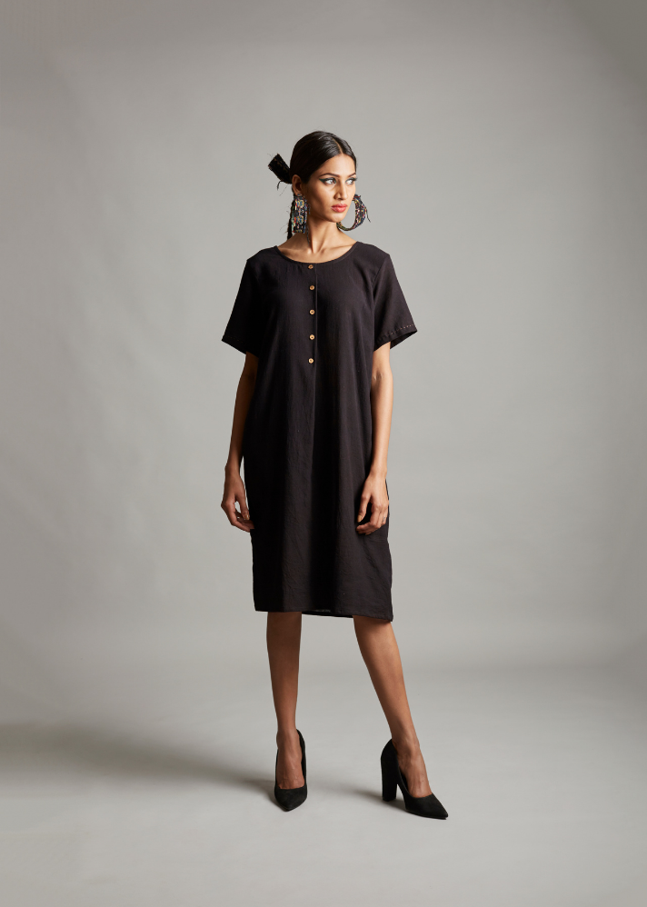 Delirious Depths Front Detail Dress