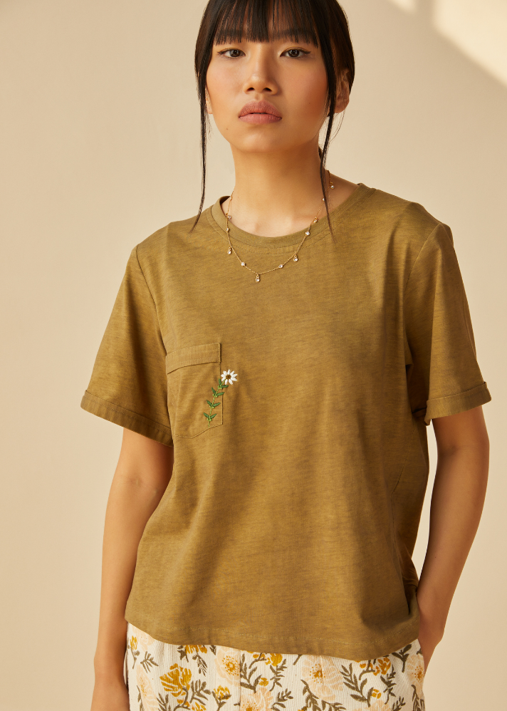 The Daisy Organic Cotton Knit T-Shirt - onlyethikal