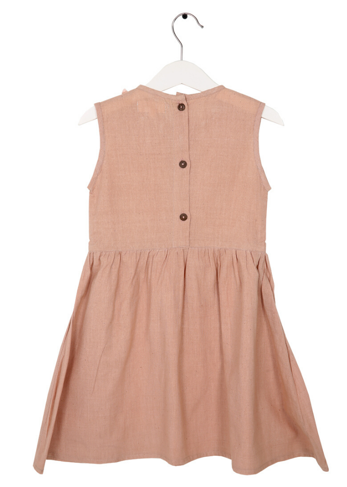 Organic Primrose Dress Peach - Ethical made fashion - onlyethikal