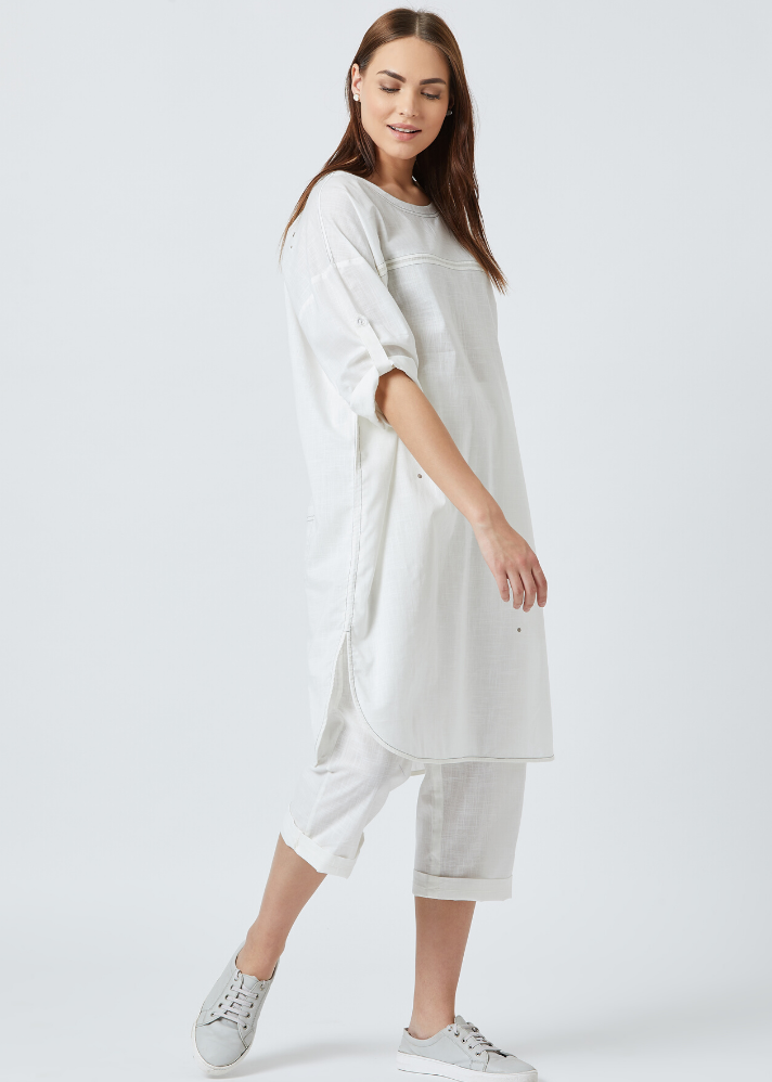 White tunic dress - Ethical made fashion - onlyethikal