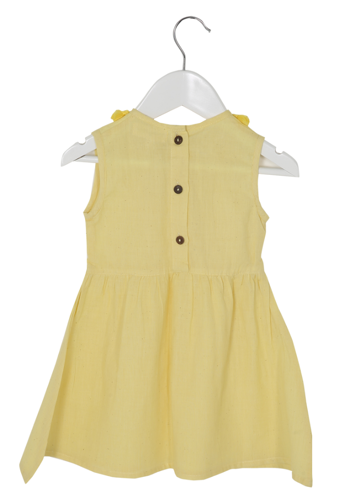 Organic Primrose Dress Yellow - Ethical made fashion - onlyethikal