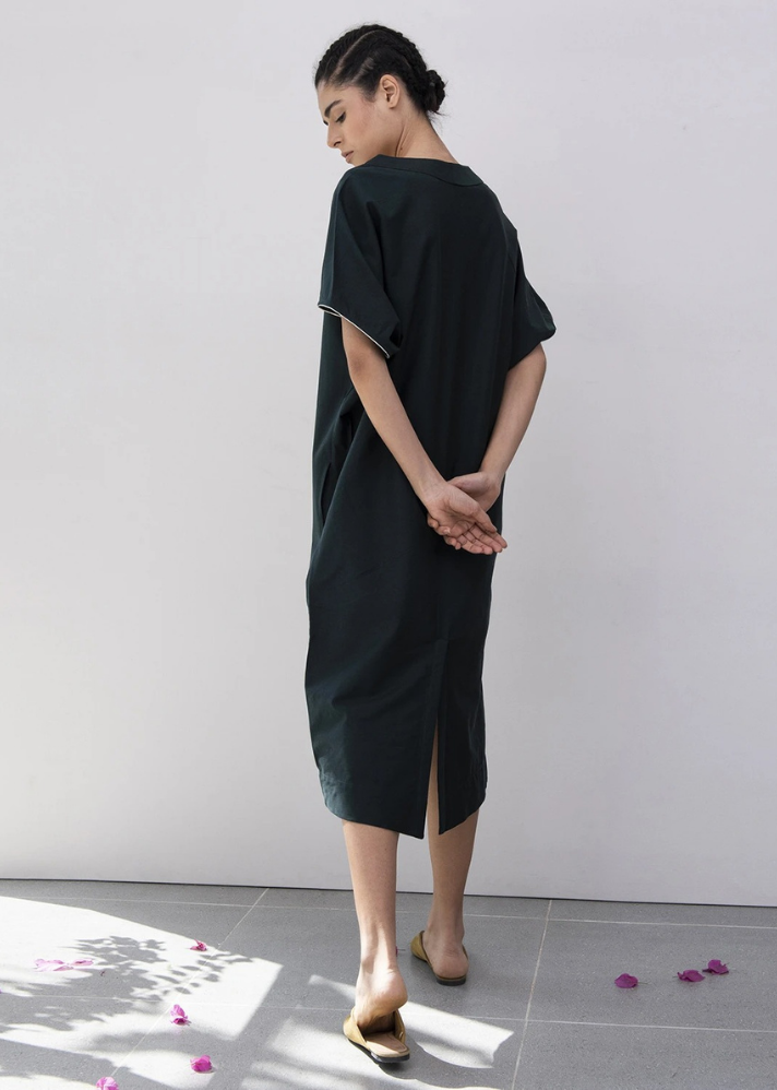 Preachings of Pine Kimono Dress - Ethical made fashion - onlyethikal