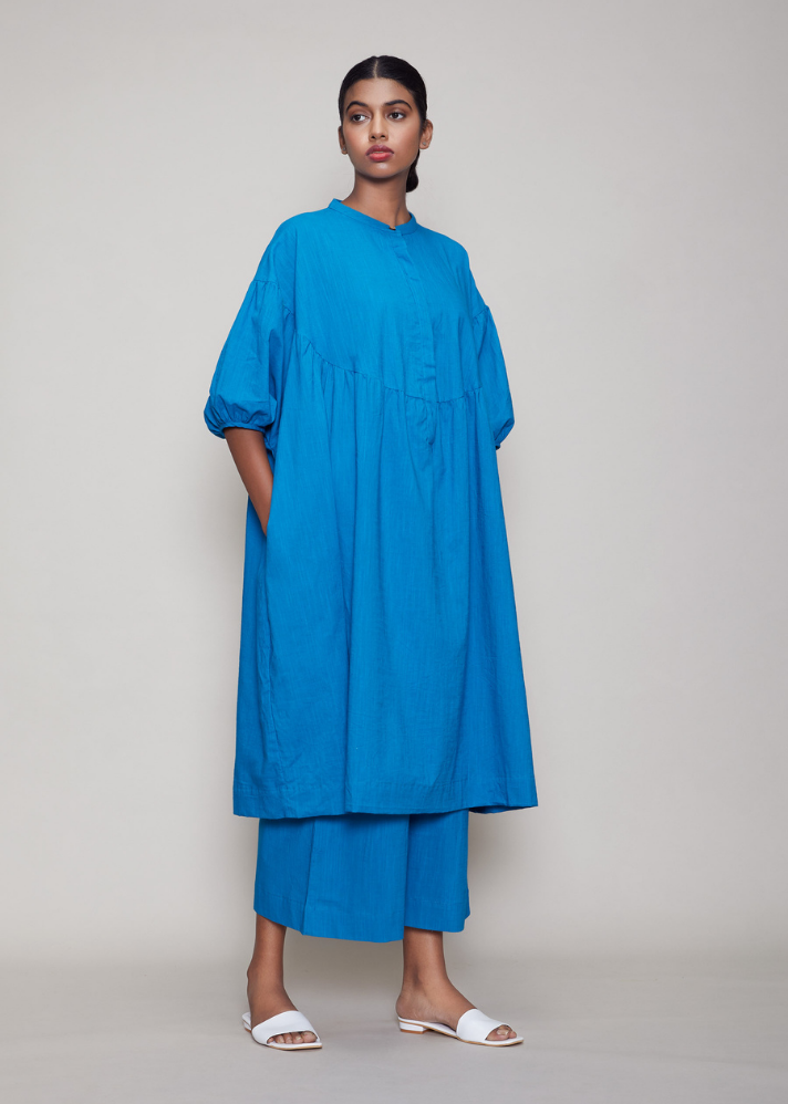 Acra Tunic Dress Blue - onlyethikal