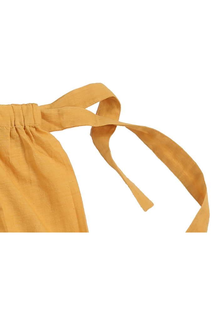 Organic Vinca Skirt Mustard - Ethical made fashion - onlyethikal