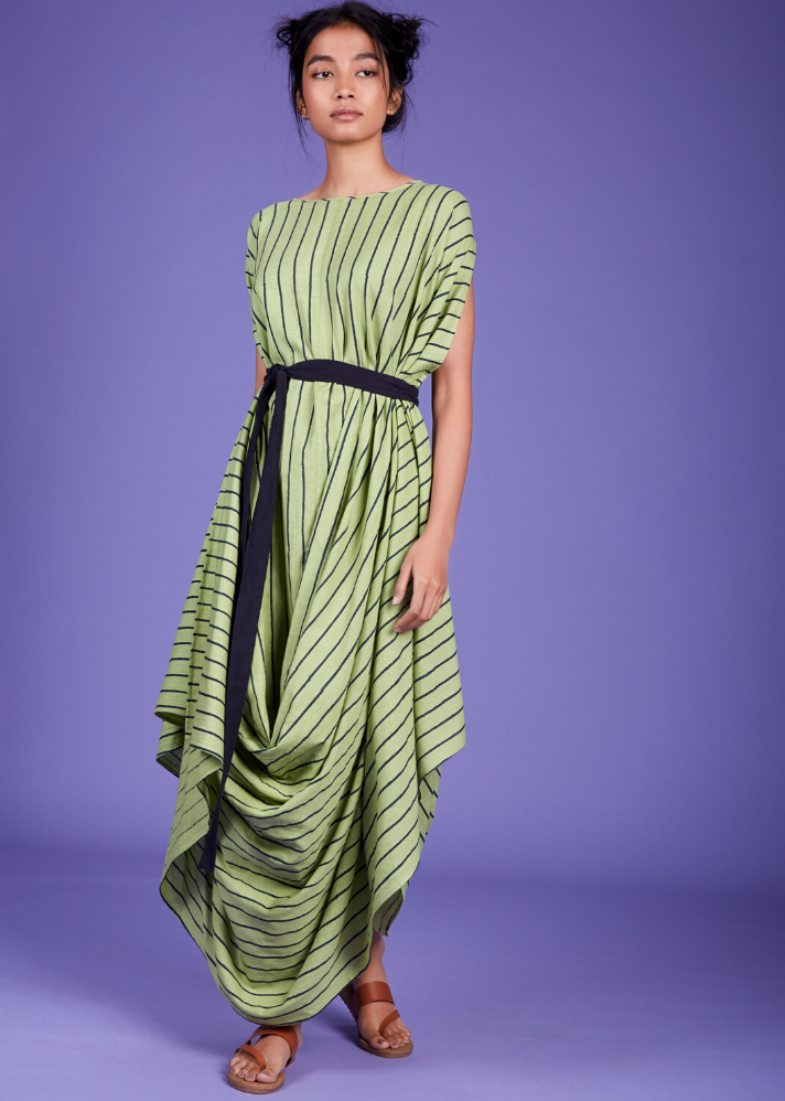 Cowl Dress - Green - Ethical made fashion - onlyethikal