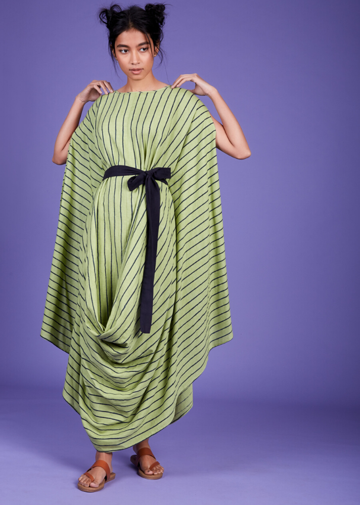 Ready to ship! Cowl Dress - Green - Ethical made fashion - onlyethikal