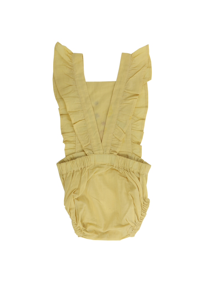 Calendula romper - Yellow - Ethical made fashion - onlyethikal