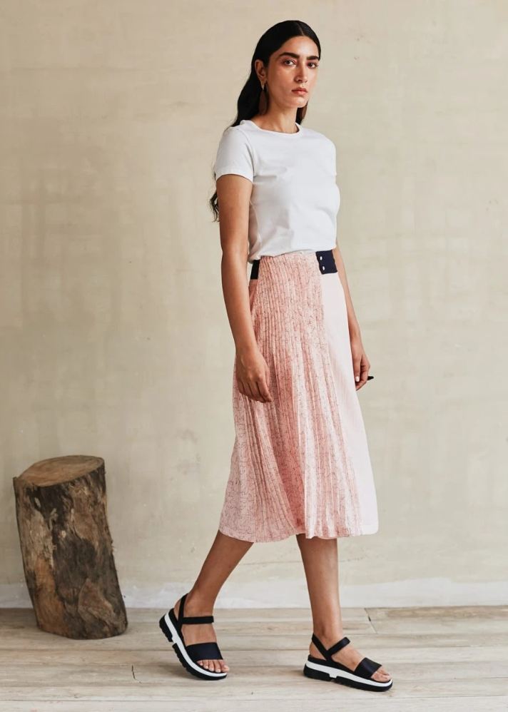 Pink Moon Crop Top and skirt set - onlyethikal