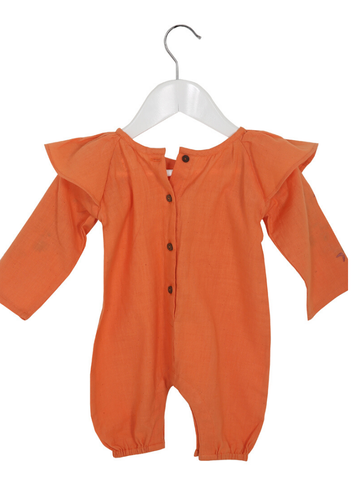 Calendula romper - Orange - Ethical made fashion - onlyethikal