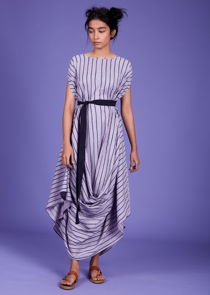 Cowl Dress - Lavender - Ethical made fashion - onlyethikal