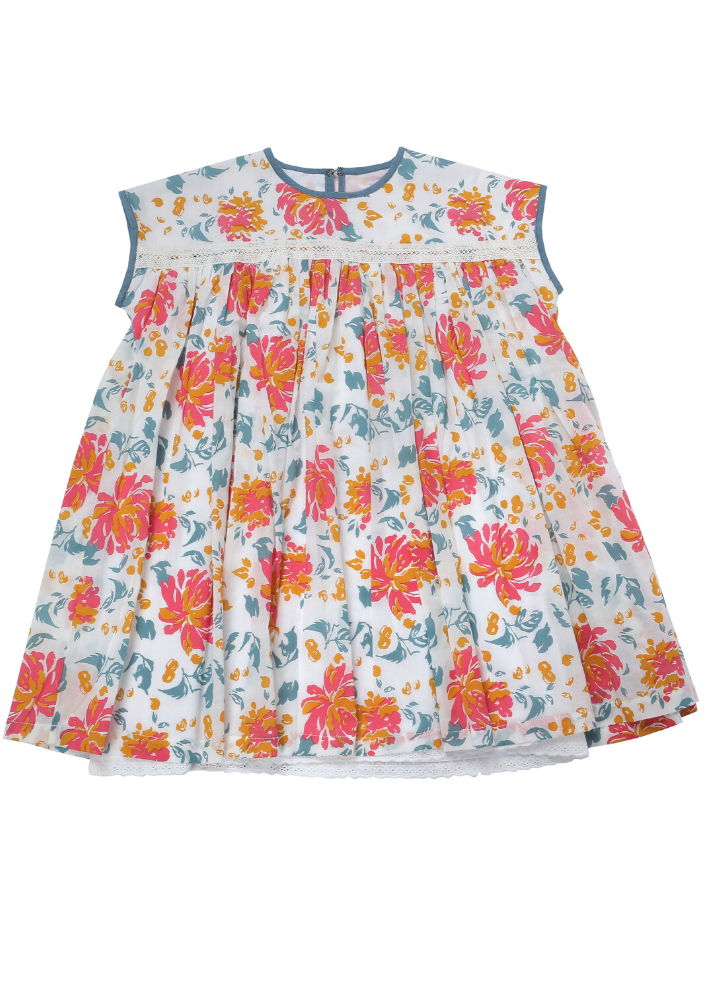 Organic Flower Dress - Ethical made fashion - onlyethikal