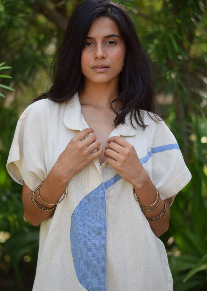 Upcycled cotton dress - Ethical made fashion - onlyethikal