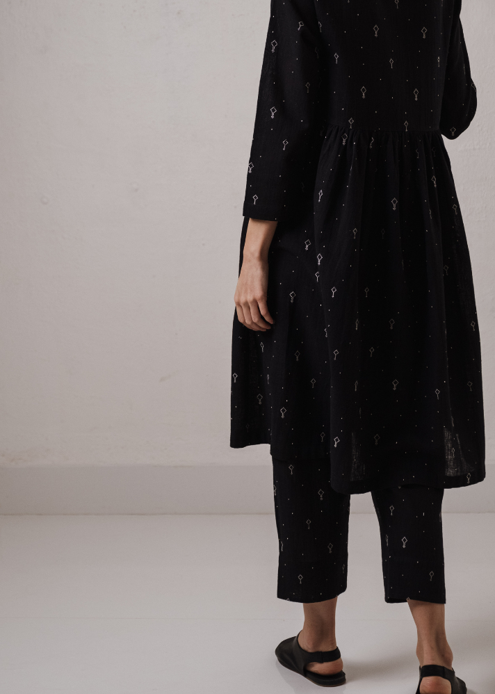 Achromatic Organic Cotton Tunic With Pants - onlyethikal