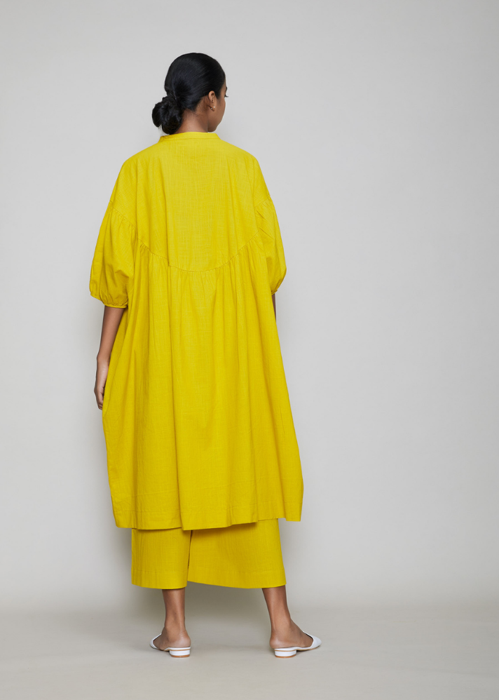 Acra Tunic Dress Yellow - onlyethikal