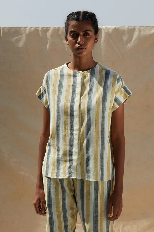 Robin Stripe Top - Ethical made fashion - onlyethikal