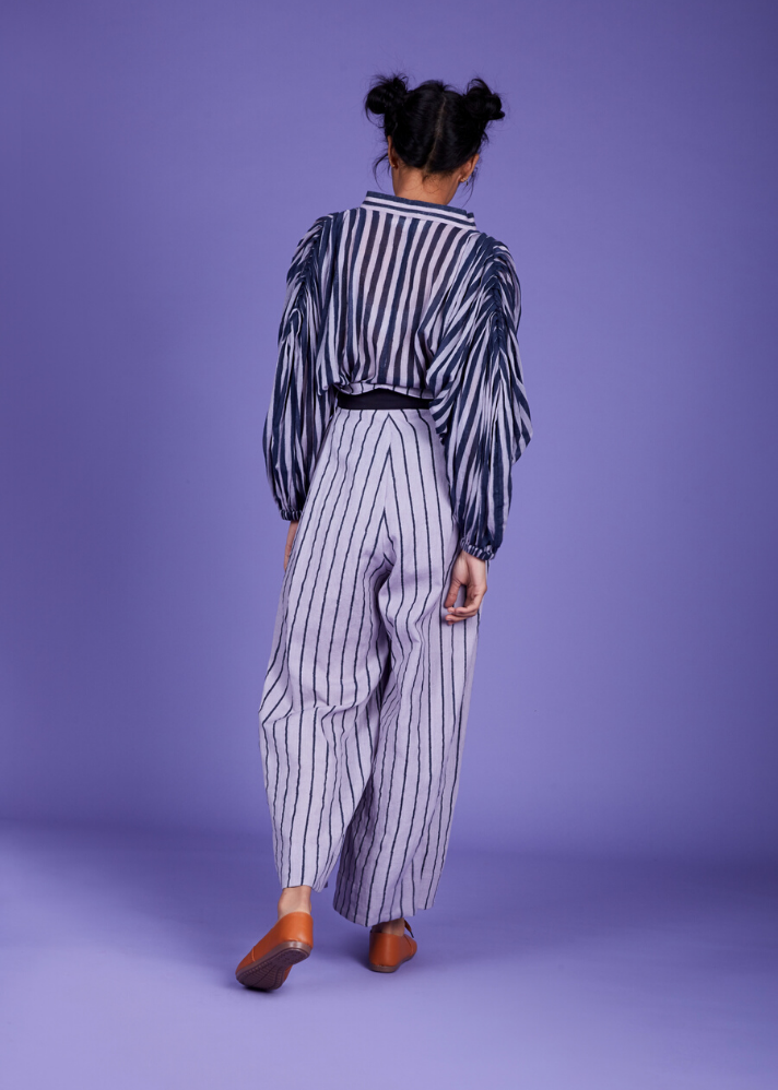 Paper bag pant - Lavender - Ethical made fashion - onlyethikal