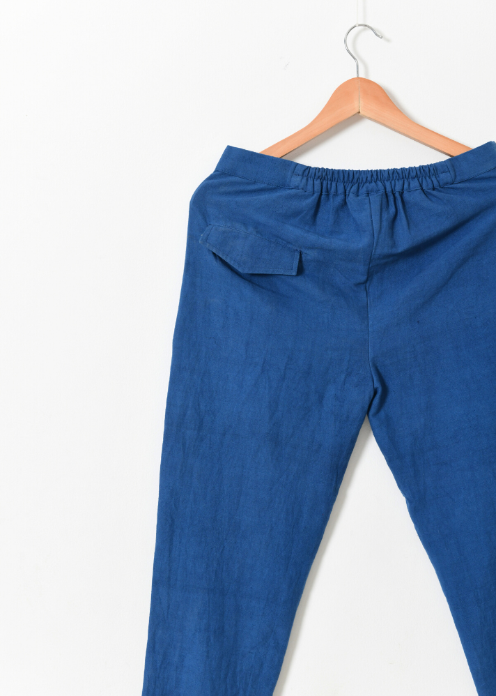 Indigo Khadi Pants - Ethical made fashion - onlyethikal
