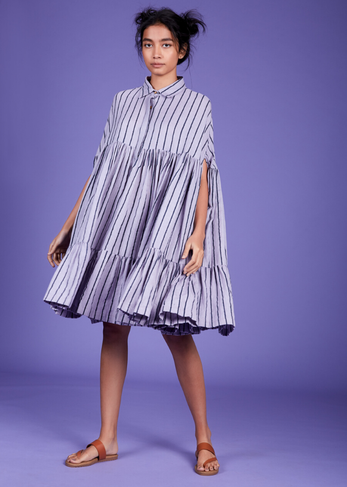 Cape dress - Lavender - Ethical made fashion - onlyethikal