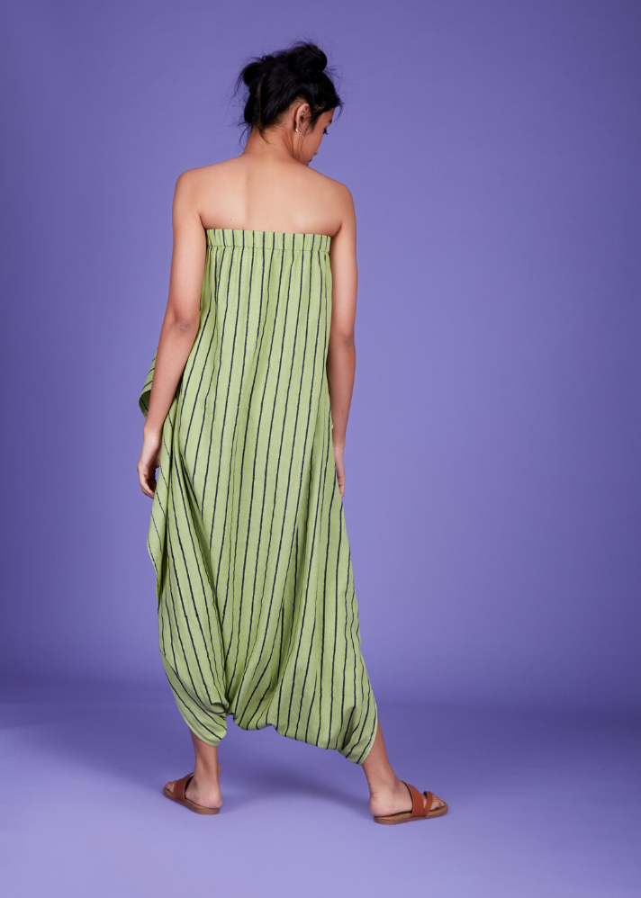 Dhoti Jumpsuit - Green - Ethical made fashion - onlyethikal