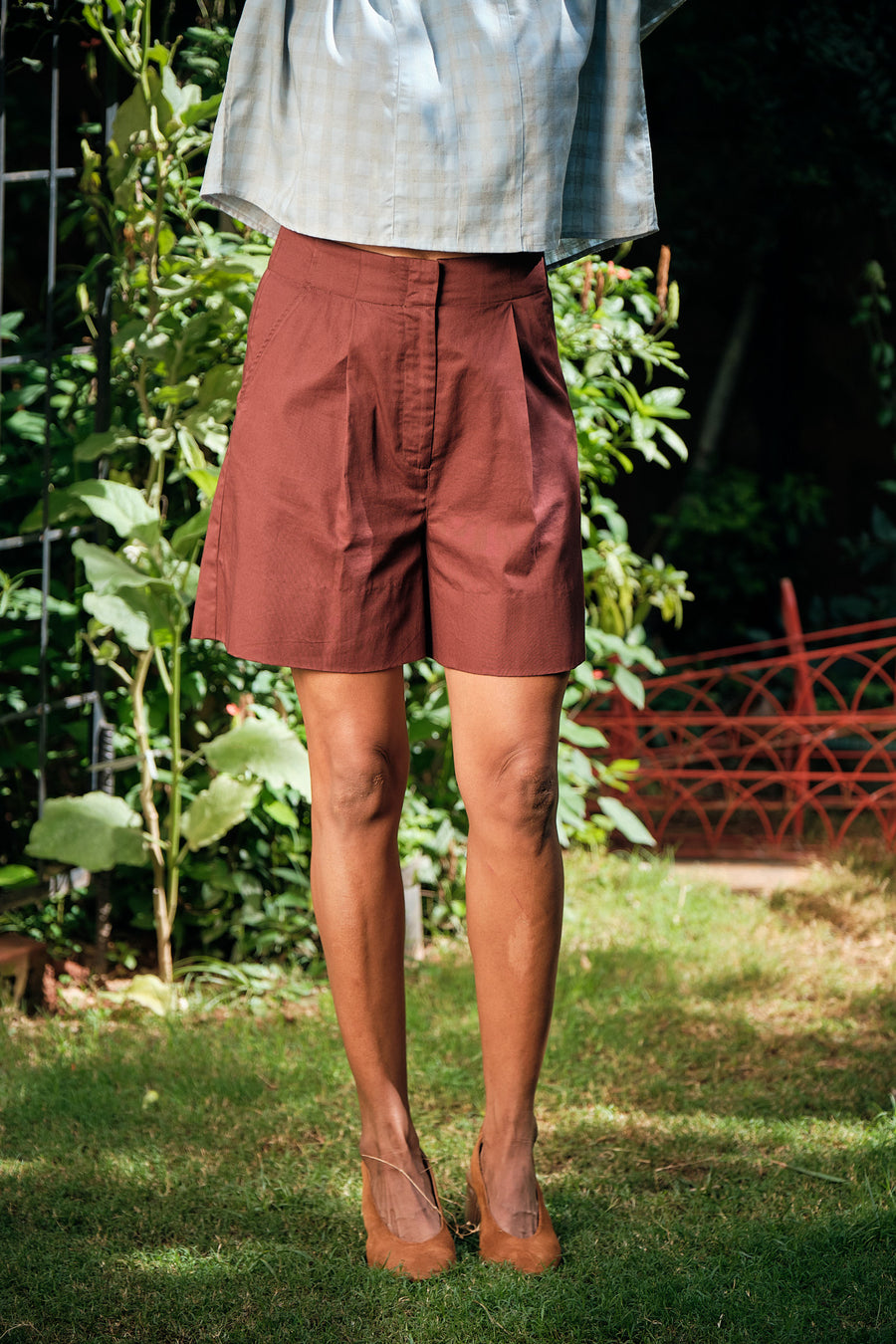 Akko organic twill shorts - Ethical made fashion - onlyethikal