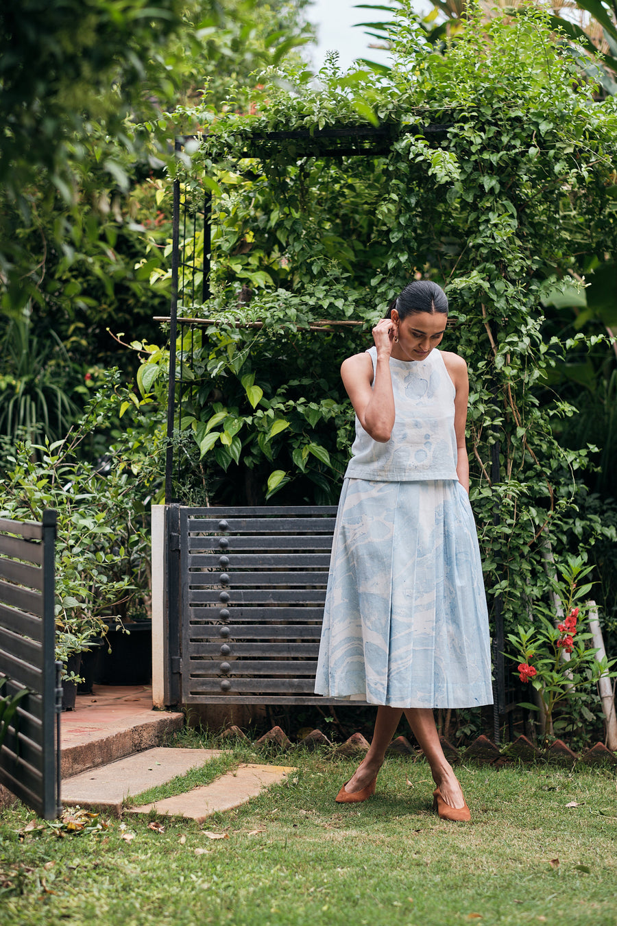 Clamentine Cotton Mul Skirt - Ethical made fashion - onlyethikal