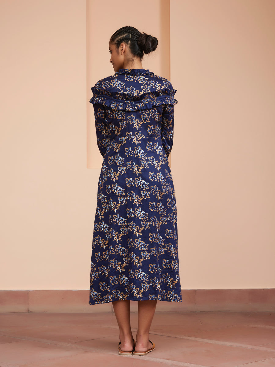 Pustak A Line Dress - Ethical made fashion - onlyethikal