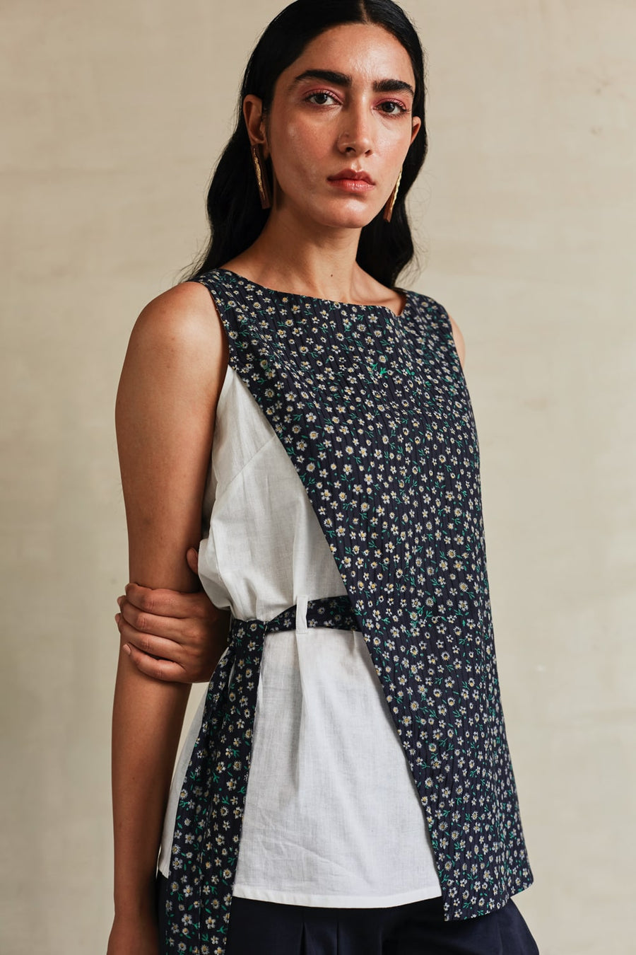 White Daisies Layered Top - Ethical made fashion - onlyethikal