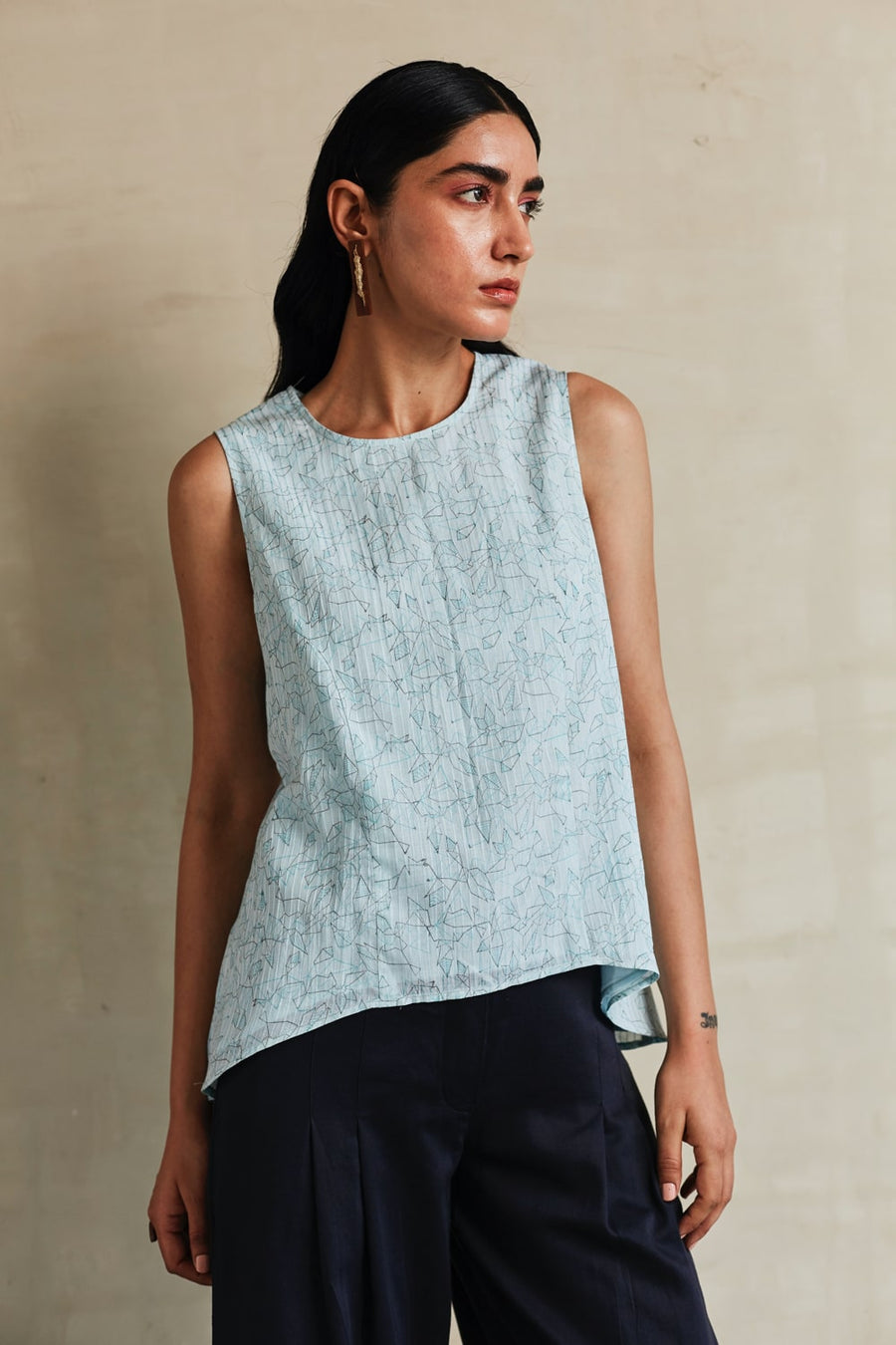 Bluebird A-line Top - Ethical made fashion - onlyethikal