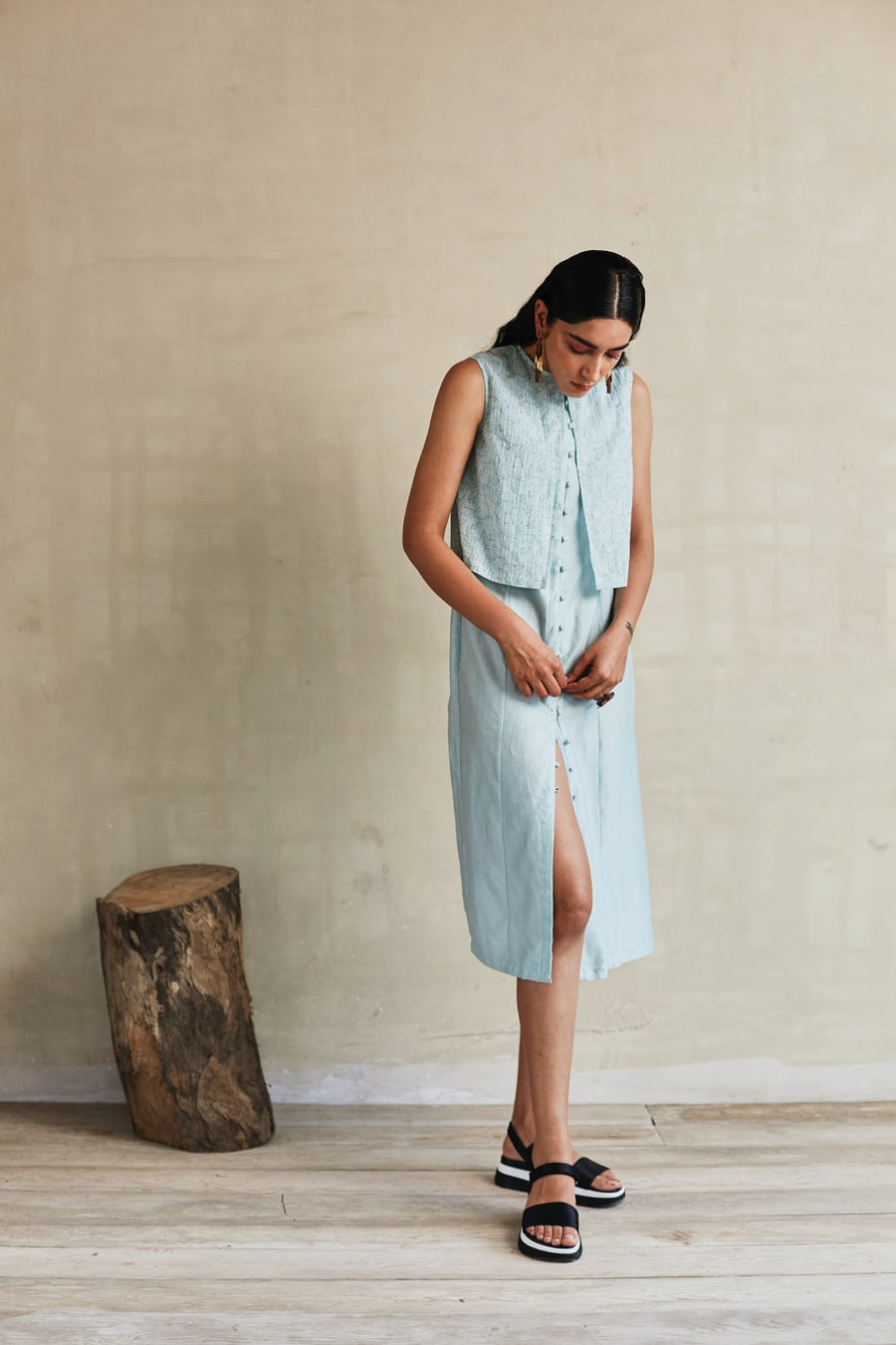 Layers Of Sky Tunic - Ethical made fashion - onlyethikal
