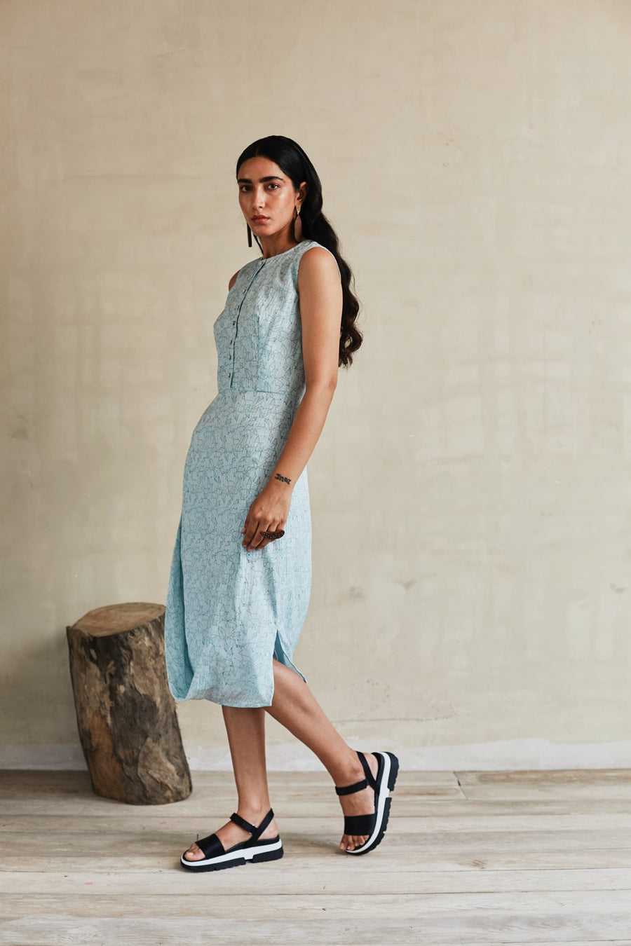 Flowy River Draped Dress - Ethical made fashion - onlyethikal