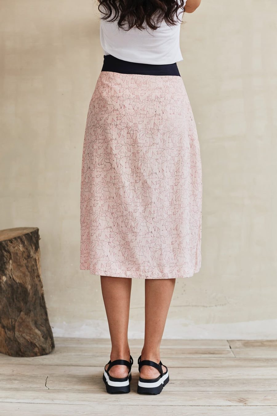 Pleated Flounce Midi Skirt - Ethical made fashion - onlyethikal