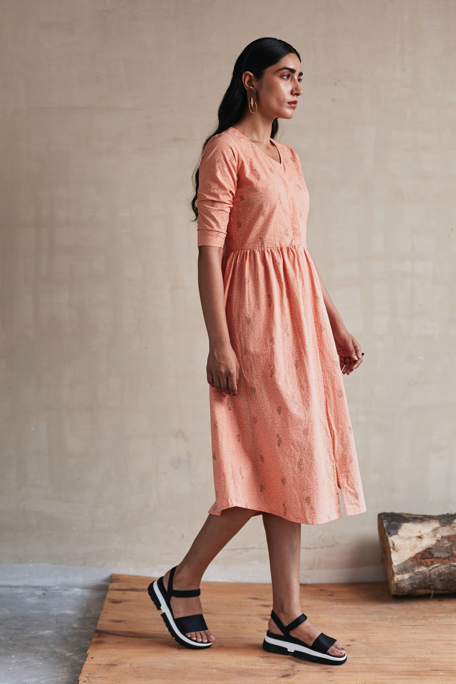 Peachy Day Dress - Ethical made fashion - onlyethikal