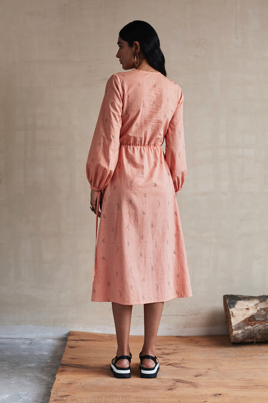 Peach-Sorbet Twist Dress - Ethical made fashion - onlyethikal