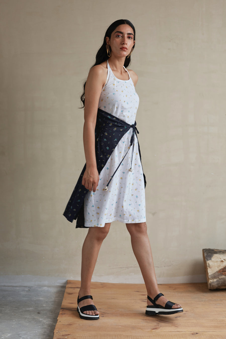 Strappy Halter Summer Dress - Ethical made fashion - onlyethikal