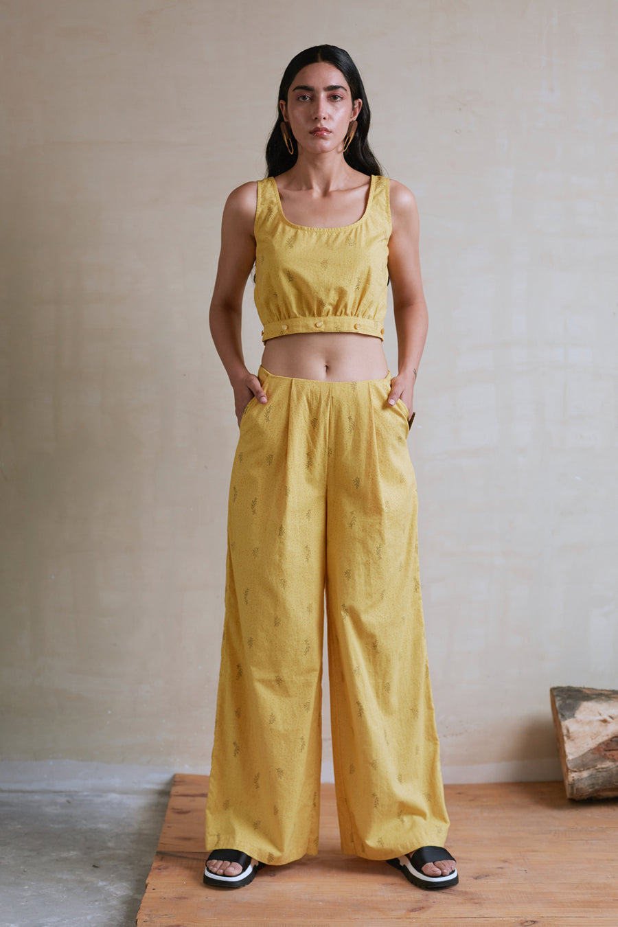 Yellow Pants Top Set - Ethical made fashion - onlyethikal