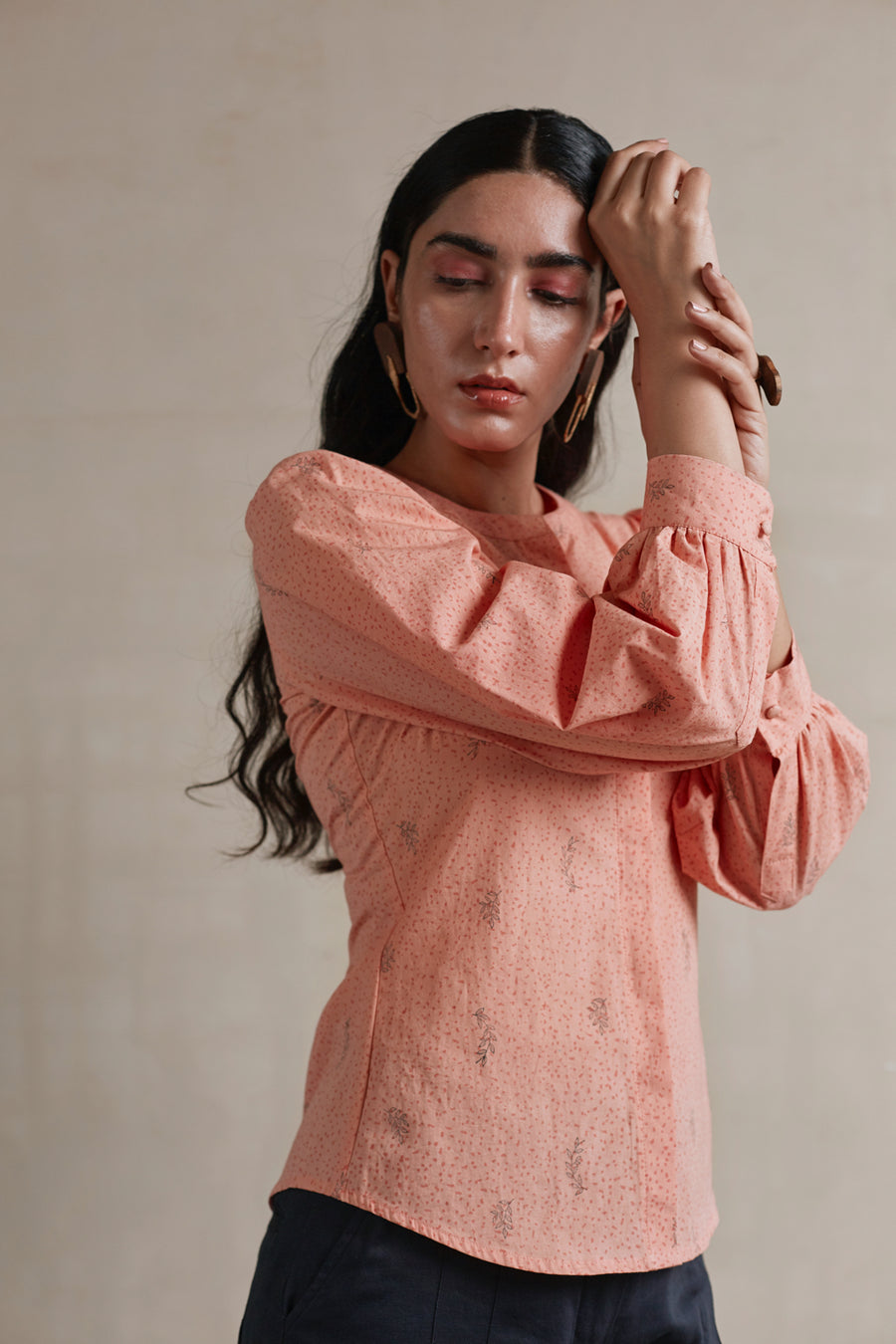 Peach Parfait Romantic Shirt - Ethical made fashion - onlyethikal